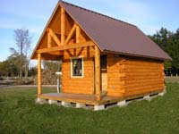 The Niagara, small cabin suitable for hunting camp cabin, fishing camp cabin, or weekend getaway cabin